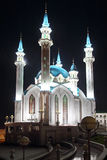Kul sharif mosque at night in kazan Stock Photography