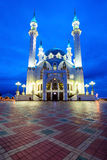 The Kul Sharif Mosque. At night. It is a one of the largest mosques in Russia.  is located in Kazan city in Russia stock photos