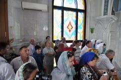 Kul Sharif Mosque no Kremlin de Kazan Imagem de Stock Royalty Free