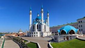 Kul Sharif Mosque no panorama do Kremlin de Kazan Imagem de Stock