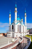 The Kul Sharif Mosque. Is a one of the largest mosques in Russia.  is located in Kazan city in Russia royalty free stock photography