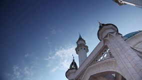 Kul Sharif Mosque and Sky stock footage