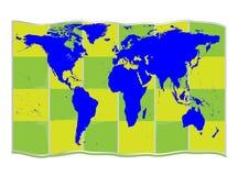Kul ziemskich mapy Fotografia Royalty Free