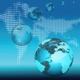 kul ziemskich mapy świat Zdjęcia Royalty Free