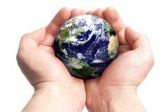 kul ziemskich ręki Zdjęcie Royalty Free