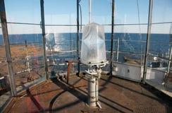 Kula av fyren och sikten från marknadsfyren i det baltiska havet Royaltyfria Foton
