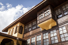 Kula Houses. Old houses in turkey anatolia with sky Royalty Free Stock Images
