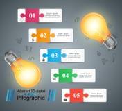 Kula ljus, elkraft - infographic affär stock illustrationer