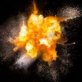 Kula ognista: wybuch, detonacja Zdjęcia Royalty Free