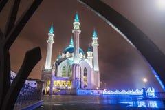 Kula Sharif meczet przy nocą w zimie Obraz Stock