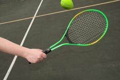 kula tenis lotu Zdjęcie Stock