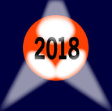 2018 kula ziemska Zdjęcia Royalty Free