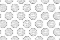 Kula ziemska - abstrakta kwadrata wzór Obrazy Royalty Free