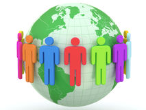 Kula ziemska i ludzie Ziemska i światowa mapa Obraz Stock