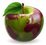 kula ziemska jabłczany świat royalty ilustracja