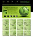 2014 kula ziemska kalendarz Zdjęcia Stock