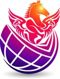 Kula ziemska konia logo ilustracja wektor
