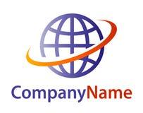 Kula ziemska logo Zdjęcie Royalty Free