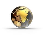 kula ziemska pieniądze Zdjęcie Royalty Free