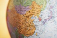 Kula ziemska Pokazuje Chiny zdjęcie stock