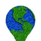 Kula ziemska robić od liści, zielona eco ziemia Zdjęcia Royalty Free