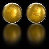 kula ziemska złota royalty ilustracja