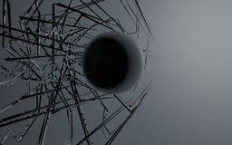 Kula ziemska z liniami Fotografia Stock