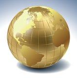 kula ziemska złota Fotografia Royalty Free
