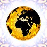 kula ziemska złota Zdjęcie Stock