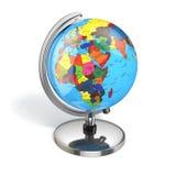 Kula ziemska z polityczną mapą na białym tle Fotografia Stock