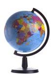 Kula ziemska z politycznymi mapami odizolowywać na bielu obraz royalty free