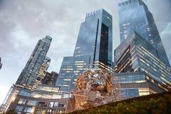 Kula ziemska zabytek w centrala parku Nowy Jork Obraz Stock