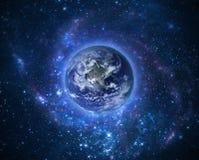 Kula ziemska Ziemski model nocą Elementy meblujący NASA wizerunek Fotografia Stock