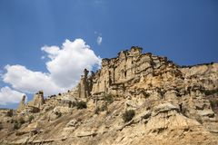 Kuladokya is geolocigal area in Kula ,Manisa, Turkey. Kuladokya is a geological area in Kula, Manisa, Turkey. volcanic geopark joined UNESCO Global Geopark stock image