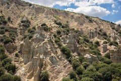 Kuladokya is geolocigal area in Kula ,Manisa, Turkey. Kuladokya is a geological area in Kula, Manisa, Turkey. volcanic geopark joined UNESCO Global Geopark royalty free stock photo