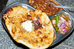 Kulcha Chole Stock Image