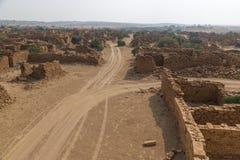 Kuldhara村庄在Jaisalmer,印度 免版税库存图片