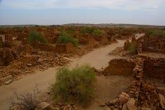 Kuldhara övergav byn Rajasthan india Royaltyfri Bild
