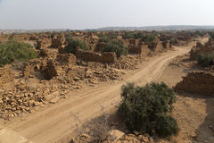 Kuldhara village in Jaisalmer, India Royalty Free Stock Photo