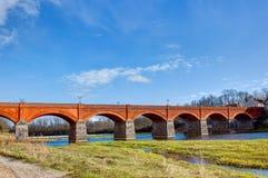 Kuldiga拉脱维亚砖桥梁 库存图片