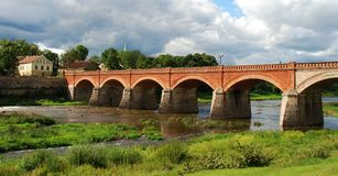 kuldiga γεφυρών παλαιό Στοκ Φωτογραφία
