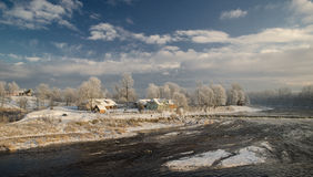 Kuldiga в зиме Стоковое Изображение