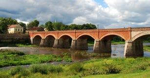 kuldiga моста старое Стоковая Фотография