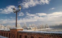 Kuldiga en hiver Images libres de droits