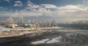 Kuldiga en hiver Photo libre de droits