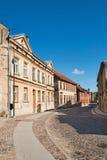 Kuldiga, Latvia. Narrow street in the ancient town of Kuldiga, Latvia Stock Photo