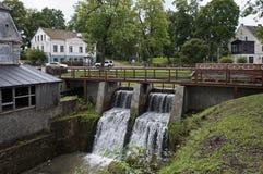 Kuldiga Latvija, vattenfall Fotografering för Bildbyråer