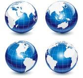 kule ziemskie glansowane ilustracja wektor