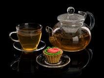Kulebiak i herbata Obrazy Royalty Free
