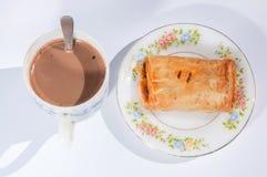 Kulebiak i kawa Zdjęcia Stock